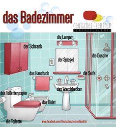 Badezimmer Deutsch Wortschatz Grammatik Alemán German DAF Vocabulario