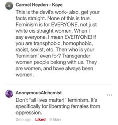 Omfg they are 'all lives matter'ing feminism