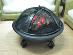 Firepit 1:12 Scale Dollhouse Miniature Lighted for by ZimmsMinis-very novel idea!