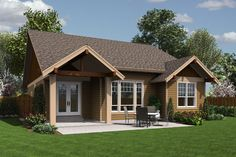 Craftsman Style House Plan - 3 Beds 2.00 Baths 1529 Sq/Ft Plan #48-598 Exterior - Rear Elevation