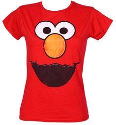 Ladies Elmo Face Sesame Street T-Shirt