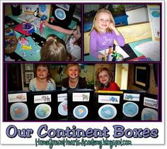 Make Continent Boxes for Continent Studies