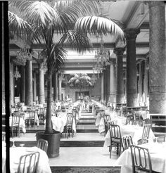 Interior of the dining room at the Drake Hotel, 1930, Chicago.