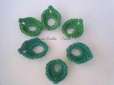 Mine folhafolha de crochê feito em linha de algodão algodão. Pode ser aplicado, em bolsas, blusas, acessórios e etc.. Cor - da foto  Preço diferenciado para atacado! R$ 0,33