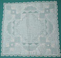 Hand Embroidered Vintage Handkerchief