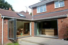 Kitchen and Garden Room Extension - Modern Garage Extension, House Extension Plans, Building Extension, House Extension Design, Extension Ideas, Side Extension, House Design, Bungalow Extensions, Garden Room Extensions