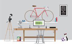 Illustratie - illustratie van onze studio, gemaakt ter promotie van studiojoost.nu