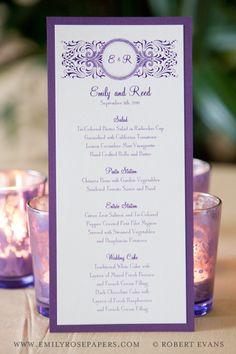 #handmade #wedding #invitations #monograms #motifs #menus #robert evans photography