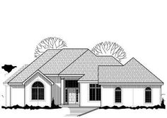 Traditional Style House Plans - 2141 Square Foot Home , 1 Story, 2 Bedroom and 2 Bath, 3 Garage Stalls by Monster House Plans - Plan 21-226