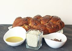 Chocolate Olive Oil Challah with Sea Salt