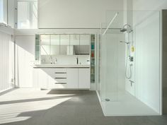 StilArt - Huf Haus/StilArt bathroom with clever storage solutions.