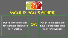 Would you rather math has lots of great posts that would be great to start class or for class activities!