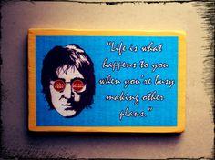Wood sign John Lennon hand-made wall decor. The by ClownLaugh