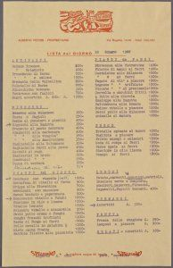 Baguita Trattoria Toscana • What's on the Menu? Help transcribe The New York Public Library's historical menu collection /via @nypl_labs @nypl_menus