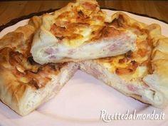 Torta Salata con Salumi e Mozzarella