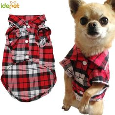 Pet Dog Clothes for Dog Soft Summer Plaid Dog Vest Clothes For Small Dogs Chihuahua Cotton Puppy Shirts T shirt Cat Vests Dog Coats & Jackets from Home & Garden Chihuahua Clothes, Pet Clothes, Animal Clothes, Clothes Sizes, Dog Vest, Dog Shirt, Plaid Shirts, T Shirts, Plaid Vest