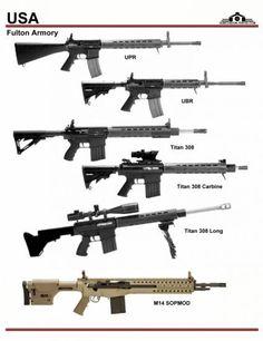 США: Fulton Armory UPR, UBR, Titan 308, M-14 ...
