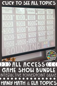 Do you teach grades 3-6 and want a new way to review standards with your students where they're engaged and having fun? These Game Show PowerPoint games make review time practice fun! Students will beg to play again and again. Teachers will love the easy set up and level of questions. Find out more by clicking the pin.