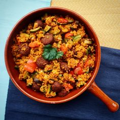 Seasoned couscous with falafel and vegetables - Here my recipe of spiced couscous with falafel and vegetables. I love couscous! Easy Healthy Recipes, Whole Food Recipes, Vegetarian Recipes, Dinner Recipes, Tempeh, Tofu, Veggie Indian Recipes, Couscous Recipes, Ras El Hanout