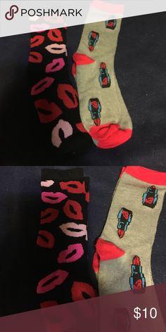 Bet sry Johnson socks 2 pair never been worn socks.Betsey Johnsons. Betsey Johnson Accessories Hosiery & Socks