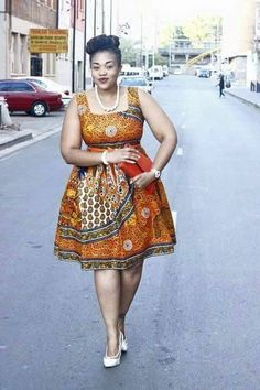 Put on some Ankara and show it more respect. Give scary parts some sunlight. The excuses have truly run out; rock these plus-size short Ankara dresses; Latest African Fashion Dresses, African Inspired Fashion, African Dresses For Women, African Print Dresses, African Print Fashion, Africa Fashion, African Attire, African Wear, African Women