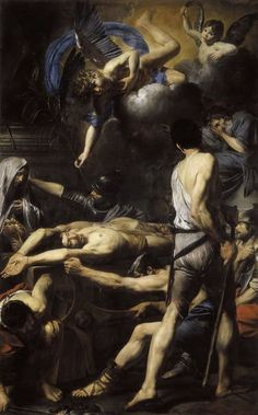 """Martyrdom of Saints Processus and. - """"Martyrdom of Saints Processus and Martinian. part of the exhibition Beyond Caravaggio at the MET. Matisse, Oil On Canvas, Canvas Prints, Framed Prints, Saints, St Peters Basilica, Blessed Virgin Mary, Heritage Image, Photographic Prints"""