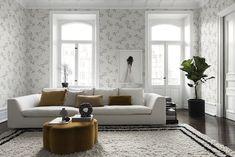 my scandinavian home: Pretty Sandberg Wallpaper Inspired by Swedish Nature.
