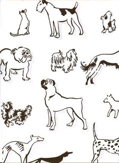 Best in Show Wallpaper Wallpaper with chocolate dogs with light grey shadow print on off white