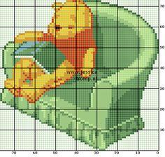 22 Free cross stitch designs bears 3 stitchingcharts borduren gratis borduurpatronen beren kruissteekpatronen