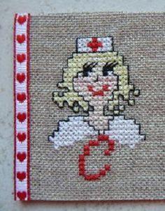 0 point de croix infirmière - cross stitch nurse