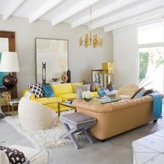 Sunny eclectic mix.  David Jimenez's Palm Springs mid-century.  Habitually Chic® » Palm Springs Paradise