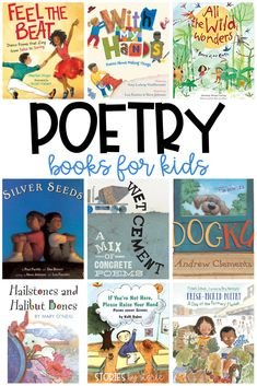 April is National Poetry Month, a time when we celebrate poets and their craft. Poetry is playful and introduces language to children in a unique way. Poetry Books For Kids, Kids Poems, Homeschool Books, Homeschooling, National Poetry Month, Teaching Poetry, Mentor Texts, Children's Literature, Childrens Books