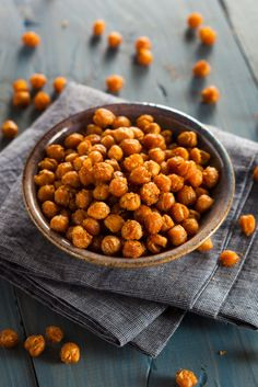 Bake up a batch of oven-roasted chickpeas for a whole food snack that's easy to make, and packed with protein!