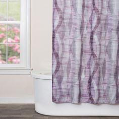 Saturday Knight Ltd Sketchbook Waves Shower Curtain