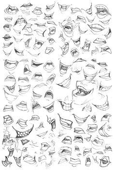 Desenhos, Mangá, Anime, Bocas, 126 Designs, Para Melhorar O Seu Desenho.
