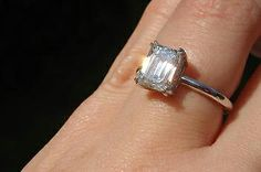 1.7ct Emerald Cut Solitaire Engagement Ring