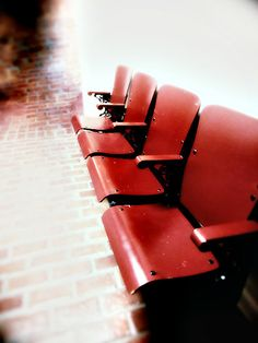 vintage school auditorium seats