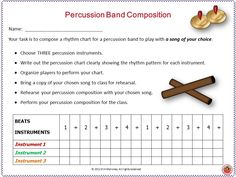 Create and Perform with Percussion Instruments!!!!   Here is a series of fun activities for your music class while reinforcing the concepts of:  ♦ beat,  ♦ rhythm, ♦ performance and  ♦ music notation.                                                   #musiceducation            #musedchat