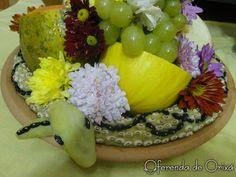 Serpente de Oxumarê com Frutas Esoteric Art, Honeydew, Acai Bowl, Religion, Breakfast, Grinch, Witchcraft, Afro, Medicinal Herbs