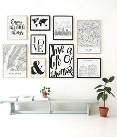 Cuadros Decorativos con Marco Family Wall Decor, Home Decor Wall Art, Home Art, Aesthetic Room Decor, Bedroom Art, New Room, Frames On Wall, Girl Room, Decoration