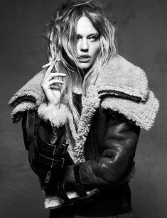 Sasha Pivovarova. Rock and roll sheepskin  www.rockstarmotel.com