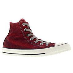 Converse Womens Chuck Taylor Hi Red Textile Trainers 37.5 EU - http://on-line-kaufen.de/converse/casino-black-converse-chuck-taylor-all-star-high-6