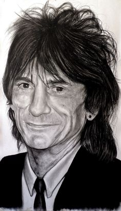 Ron Wood art Ronnie Wood Art, Heavy Metal, Keith Richards Guitars, Kelly Smith, Ron Woods, Moves Like Jagger, Charlie Watts, Greatest Rock Bands, Celebrity Drawings