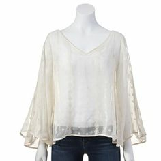 Jennifer Lopez Embroidered Chiffon Blouse #Kohls