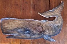 Hand painted and cut out of New England barn wood. The beauty of the wood grain adds to the unique quality of the piece. The whale measures 24 x A great nautical addition to your home. Fish Crafts, Beach Crafts, Driftwood Crafts, Wooden Crafts, Arte Bob Marley, Whale Decor, Driftwood Sculpture, Wooden Fish, Pallet Art