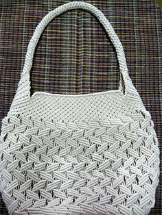 This is fully handmade cream macrame bag with intricate work and come in beautiful design with fabric lining. The bag measures 8 inches long,and is 11 inches wides and 3 inches in deep. The straps. Macrame Purse, Macrame Dress, Macrame Curtain, Macrame Knots, Macrame Jewelry, Macrame Bracelets, Art Macramé, Macrame Chairs, Micro Macramé