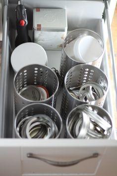 drawer organization for fermentation