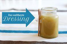 selbst gemachtes Honig Senf Dressing für Salat