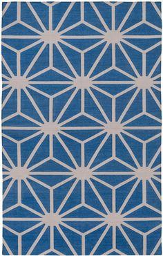 """madeline weinrib """"blue over easy"""" handwoven carpet"""