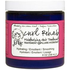 Curl Junkie Curl Rehab Moisturizing Hair Treatment, Strawberry Ice Cream Scent 8oz